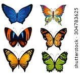 bright color vector set of... | Shutterstock .eps vector #304783625