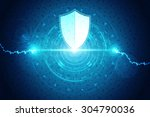 safety concept  pixelated... | Shutterstock . vector #304790036