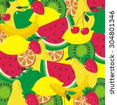 fruits vector print   Shutterstock .eps vector #304801346