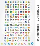 huge mega set of abstract...   Shutterstock .eps vector #304808726