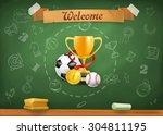 school sports  infographics... | Shutterstock .eps vector #304811195
