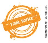 final notice stamp isolated on... | Shutterstock .eps vector #30481381