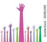 hands reaching for help | Shutterstock .eps vector #30481390