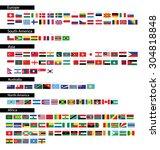 flag of the world. vector...   Shutterstock .eps vector #304818848