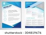 vector brochure flyer design... | Shutterstock .eps vector #304819676