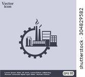 industrial icon | Shutterstock .eps vector #304829582