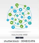 healthcare connection concept.... | Shutterstock .eps vector #304831496