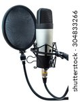 studio microphone isolated on... | Shutterstock . vector #304833266