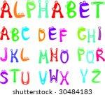 funny alphabet for kids | Shutterstock .eps vector #30484183