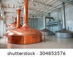 Small photo of Brewing production - metal beer tanks