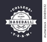 college baseball club vintage... | Shutterstock .eps vector #304854152