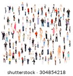 business picture office culture  | Shutterstock . vector #304854218