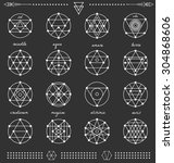 set of geometric shapes. trendy ... | Shutterstock .eps vector #304868606