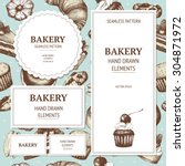vector design for bakery or... | Shutterstock .eps vector #304871972