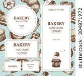 vector design for bakery or... | Shutterstock .eps vector #304871972
