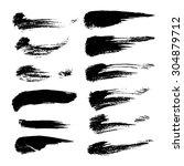 abstract black textured spots... | Shutterstock .eps vector #304879712