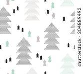 seamless scandinavian style... | Shutterstock .eps vector #304889492
