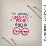 grandparents day  greeting card ... | Shutterstock .eps vector #304891445
