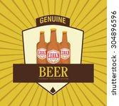beer digital design  vector... | Shutterstock .eps vector #304896596