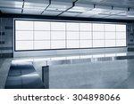 blank billboard lcd screen... | Shutterstock . vector #304898066