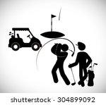 golf digital design  vector...