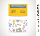Business Card With Hand Draw...