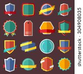 set of retro vintage labels ... | Shutterstock . vector #304908035