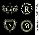 monogram design elements ... | Shutterstock .eps vector #304915526