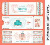 vintage circus banner... | Shutterstock .eps vector #304918952