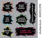 collection of motivation inks... | Shutterstock .eps vector #304921598