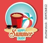 summer digital design  vector... | Shutterstock .eps vector #304926812