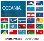 waving flags of  oceanian... | Shutterstock .eps vector #30493900