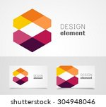 abstract logo design template | Shutterstock .eps vector #304948046