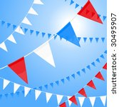 vector pennants of red white... | Shutterstock .eps vector #30495907