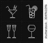 4 modern flat bar icons | Shutterstock .eps vector #304961096