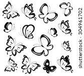 Stock vector butterflies design 304961702