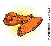vector illustration of chicken... | Shutterstock .eps vector #30496264