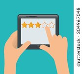 survey digital design  vector... | Shutterstock .eps vector #304967048
