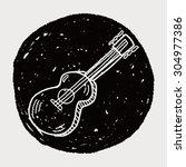 guitar doodle | Shutterstock .eps vector #304977386