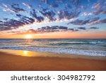 beach and sea sunrise. | Shutterstock . vector #304982792