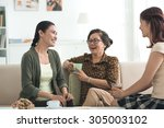grandmother  mother and... | Shutterstock . vector #305003102