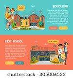 school horizontal banner  | Shutterstock .eps vector #305006522