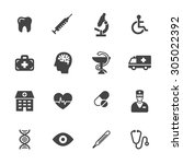 medical and health care icons.... | Shutterstock .eps vector #305022392