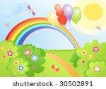 summer glade | Shutterstock .eps vector #30502891