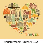 icon architectural monuments of ...   Shutterstock .eps vector #305043065