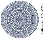 mandala. vintage decorative... | Shutterstock .eps vector #305054915