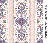 vector tribal mexican vintage... | Shutterstock .eps vector #305058542