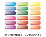 color web buttons with glass... | Shutterstock .eps vector #305064458