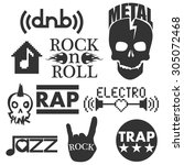 music genres. concept elements   Shutterstock . vector #305072468