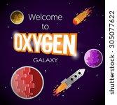 "vector poster with ""oxygen... | Shutterstock .eps vector #305077622"
